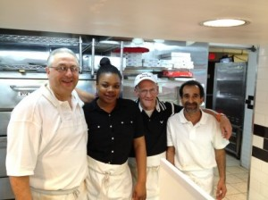 The staff at p&g pizza and deli